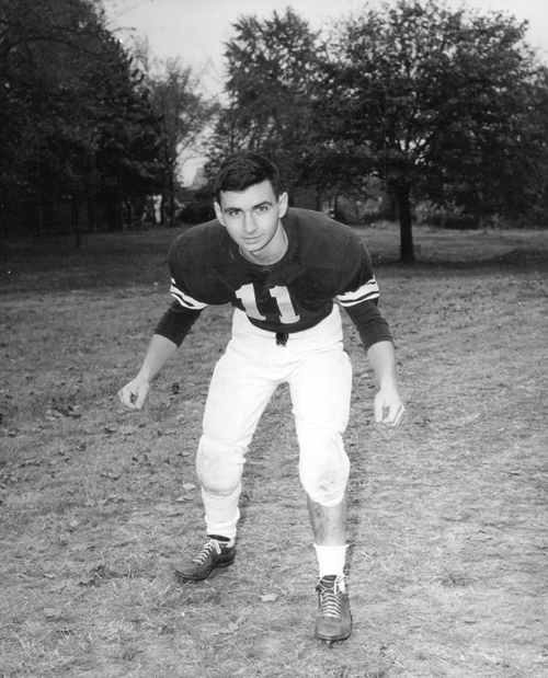 Photo of young Jack Reed in Football uniform